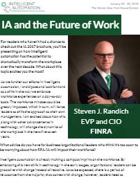 IA and the Future of Work: Interview with Steven J. Randich, EVP and CIO at FINRA