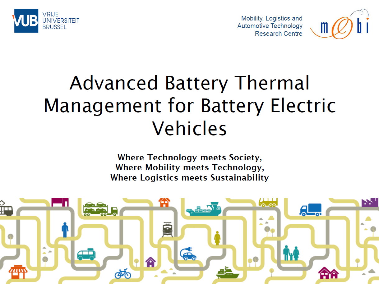 Presentation on Advanced Battery Thermal Management for Battery Electric Vehicles