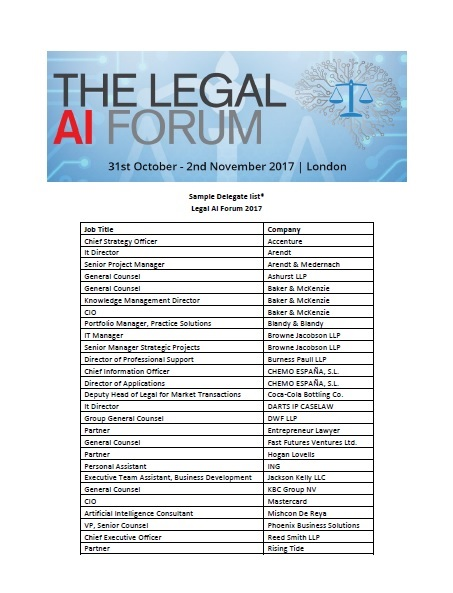 Sample Delegate List 2017 - Legal AI Forum
