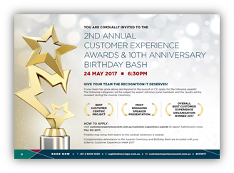 AWARDS - Best Customer Experience Project