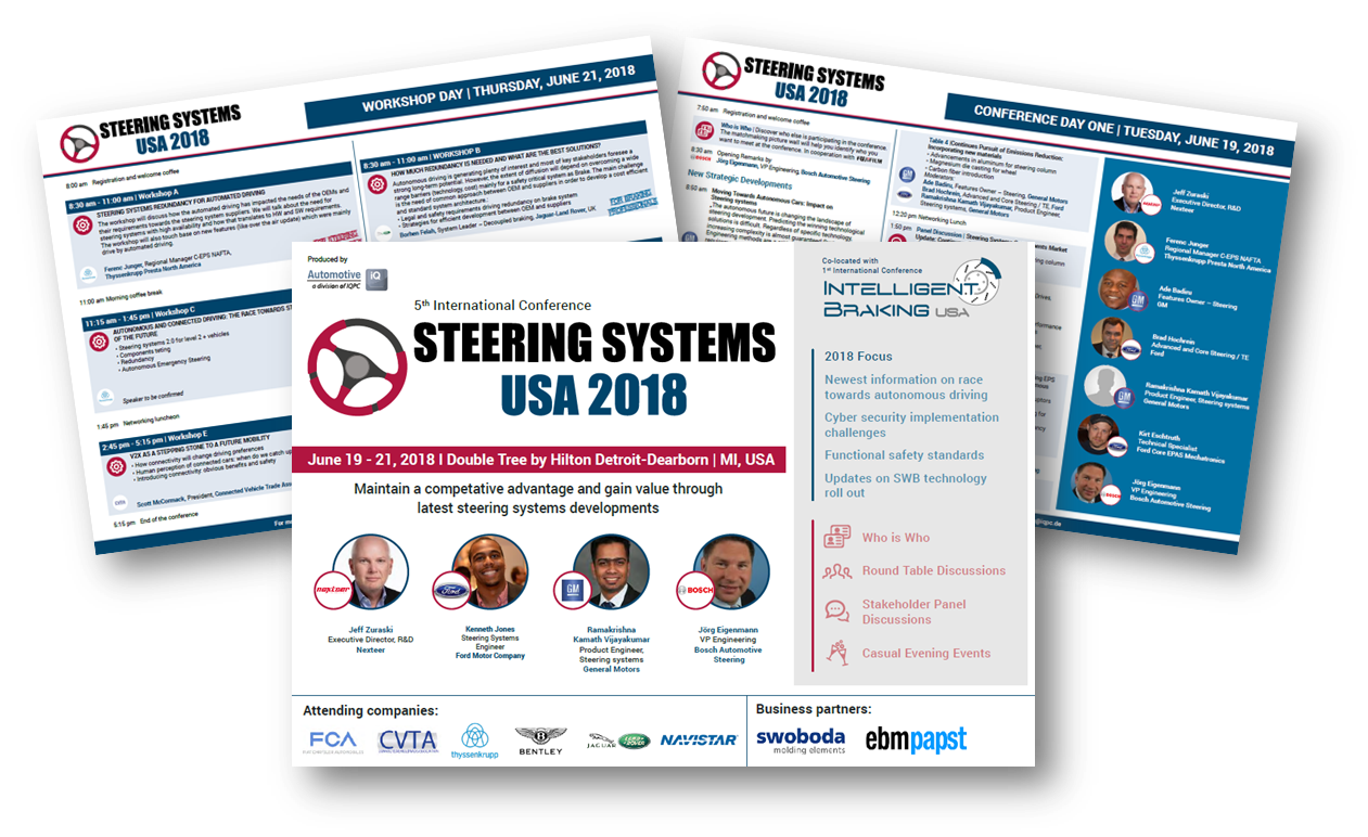 Agenda Steering Systems USA 2018