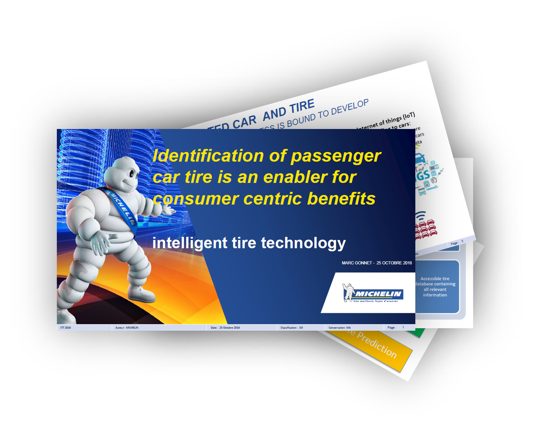 Identification of passenger car tire and consumer centric benefits