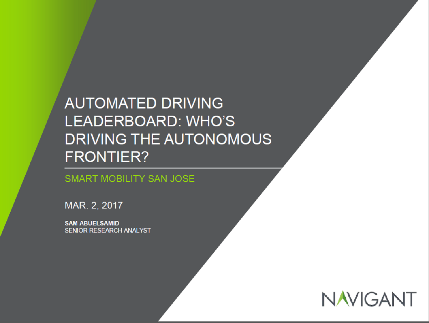 Automated Driving Leaderboard: Who's Driving the Next Frontier of Autonomy?