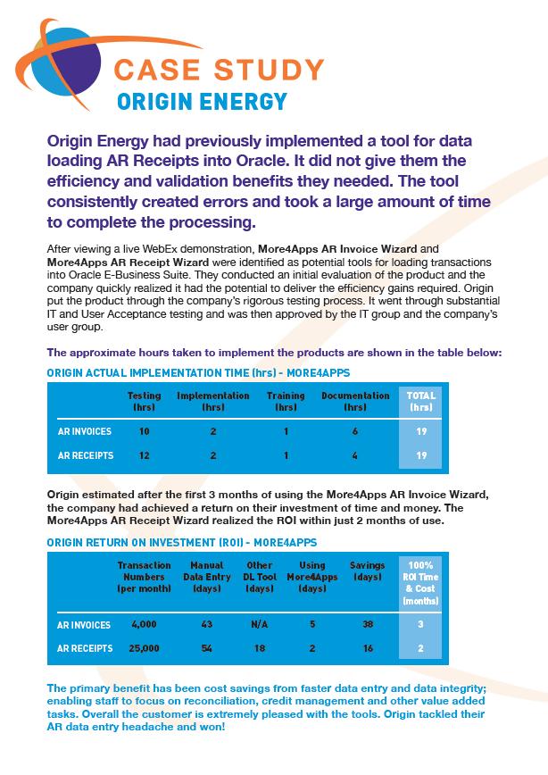 Case Study: Origin Energy