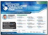 2nd Middle Eastern RPA and Intelligent Automation Forum – Agenda