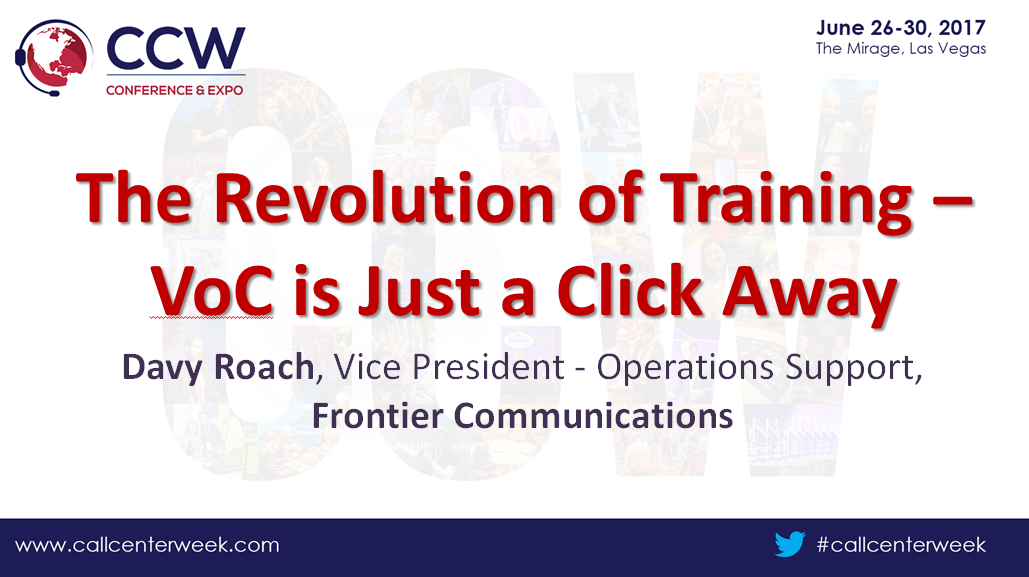Frontier Communications Presentation: The Revolution of Training – VoC is Just a Click Away