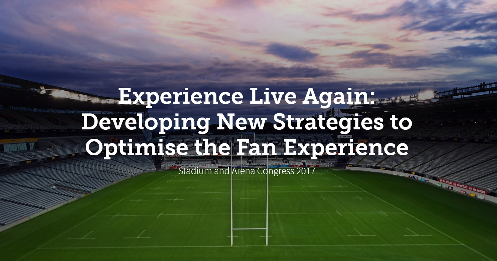 Experience Live Again: Developing New Strategies to Optimise the Fan Experience