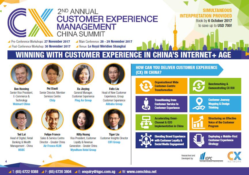 View the Event Information Kit - Customer Experience Management China Summit Brochure