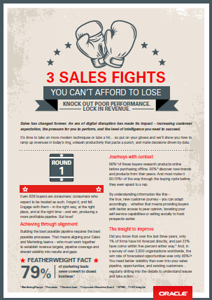 3 sales fights you can't afford to lose