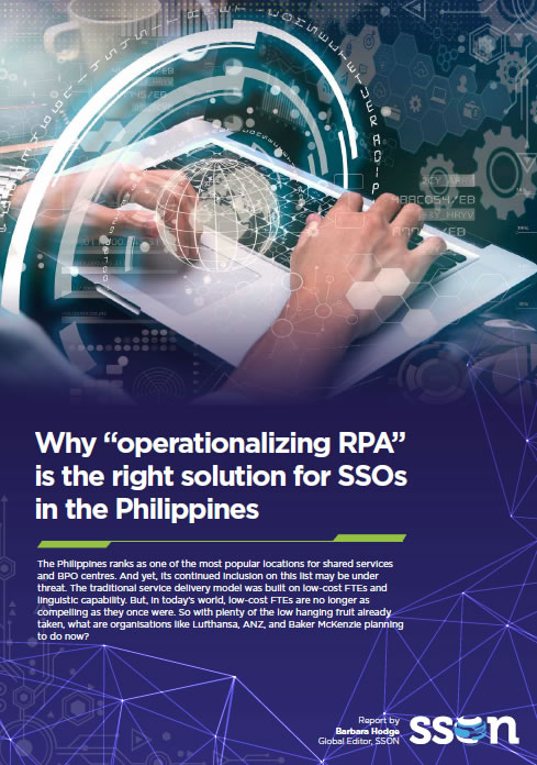 "Why ""operationalizing RPA"" is the right solution for SSOs in the Philippines"