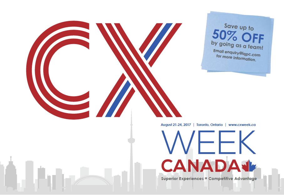 2017 CX Week Canada Agenda