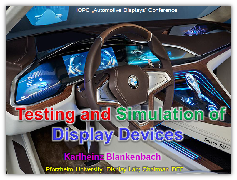 Testing and Simulation of Display Devices