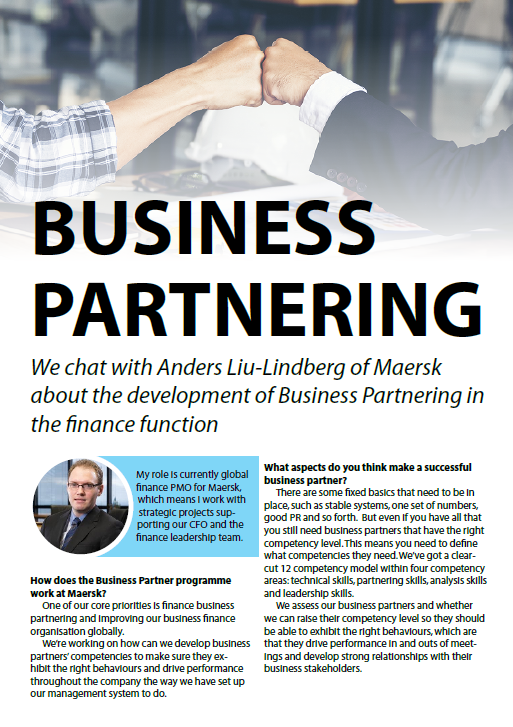 Business Partnering with Maersk's Head of Finance