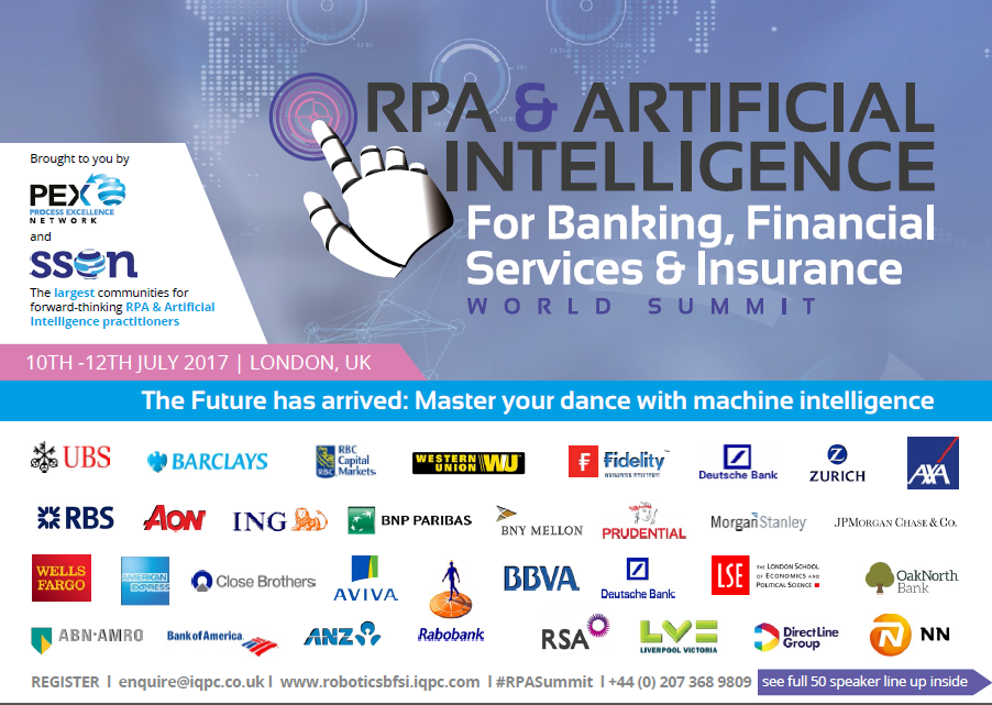 RPA & Artificial Intelligence for BFSI 2017 Agenda