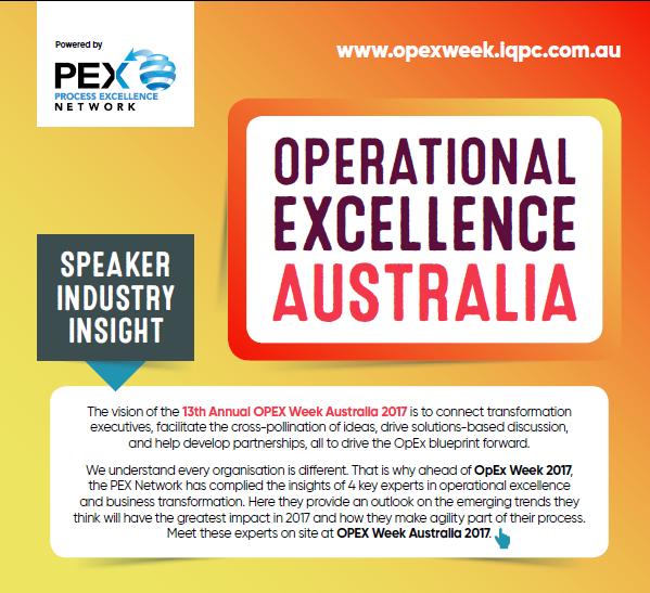 OPEX Week Australia: Speaker Industry Insight