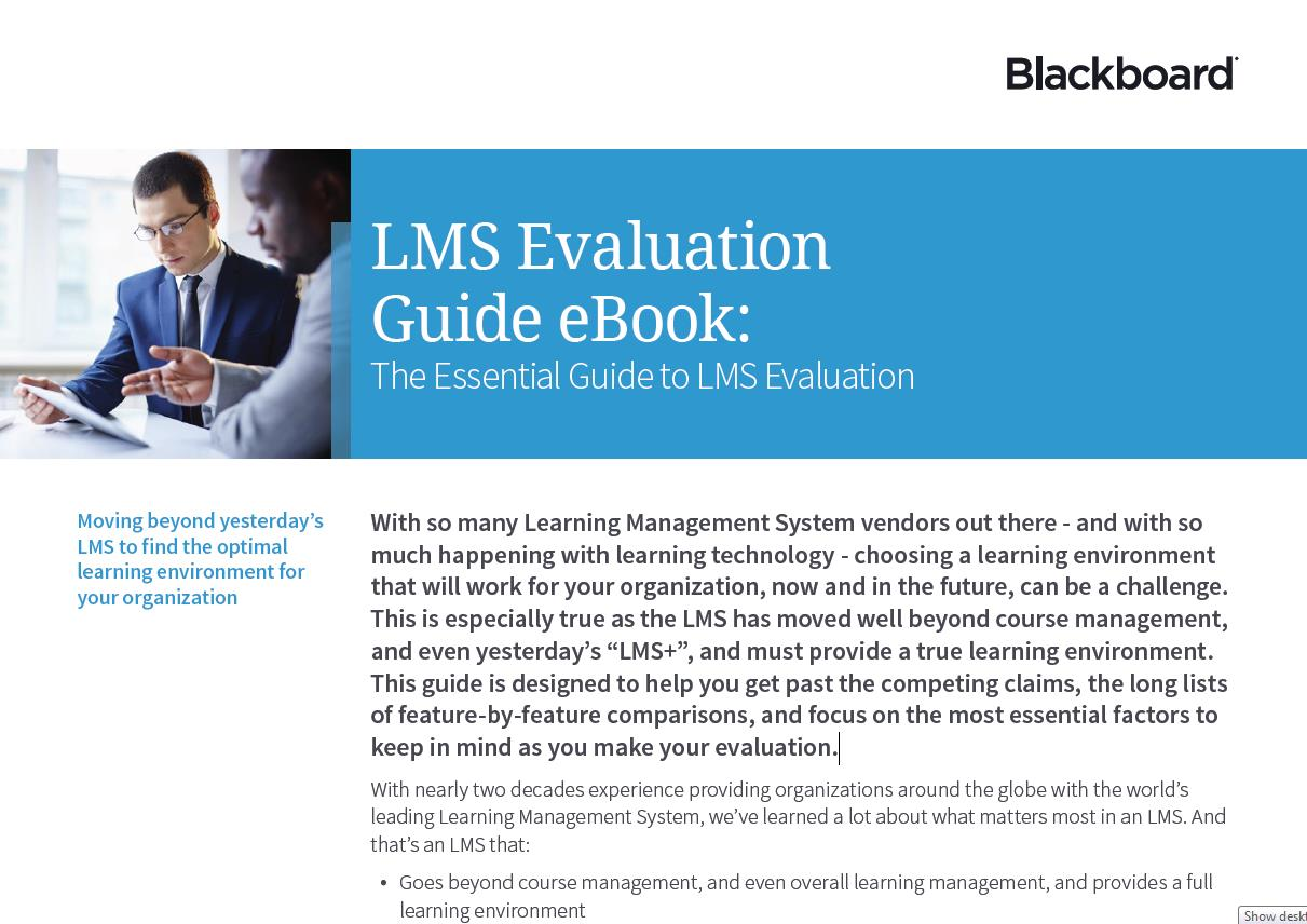 LMS Evaluation Guide eBook - Blackboard