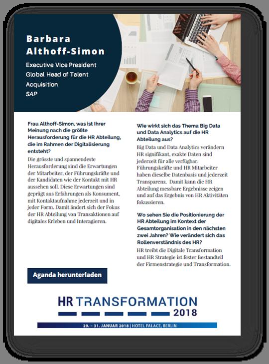 Interview mit Frau Althoff-Simon von SAP