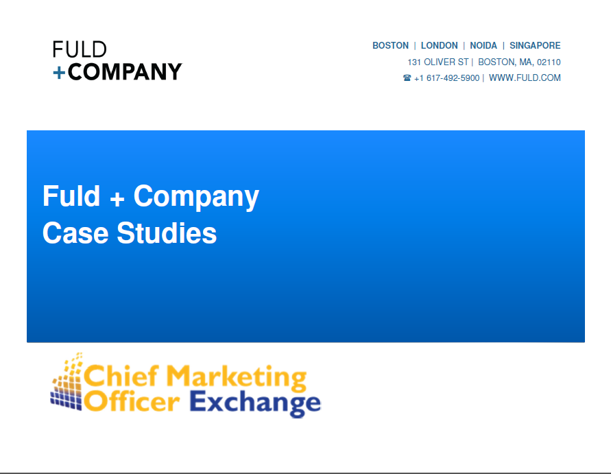 Fuld + Company Case Study