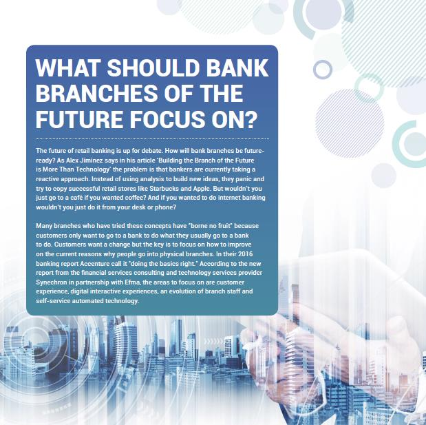 What Should Bank Branches of the Future Focus on