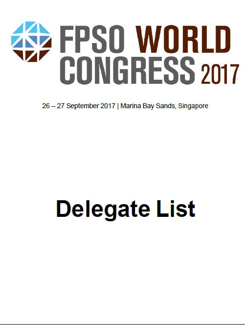 FPSO World Congress Delegate List