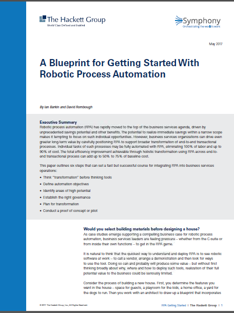A Blueprint for Getting Started with RPA by Symphony Ventures