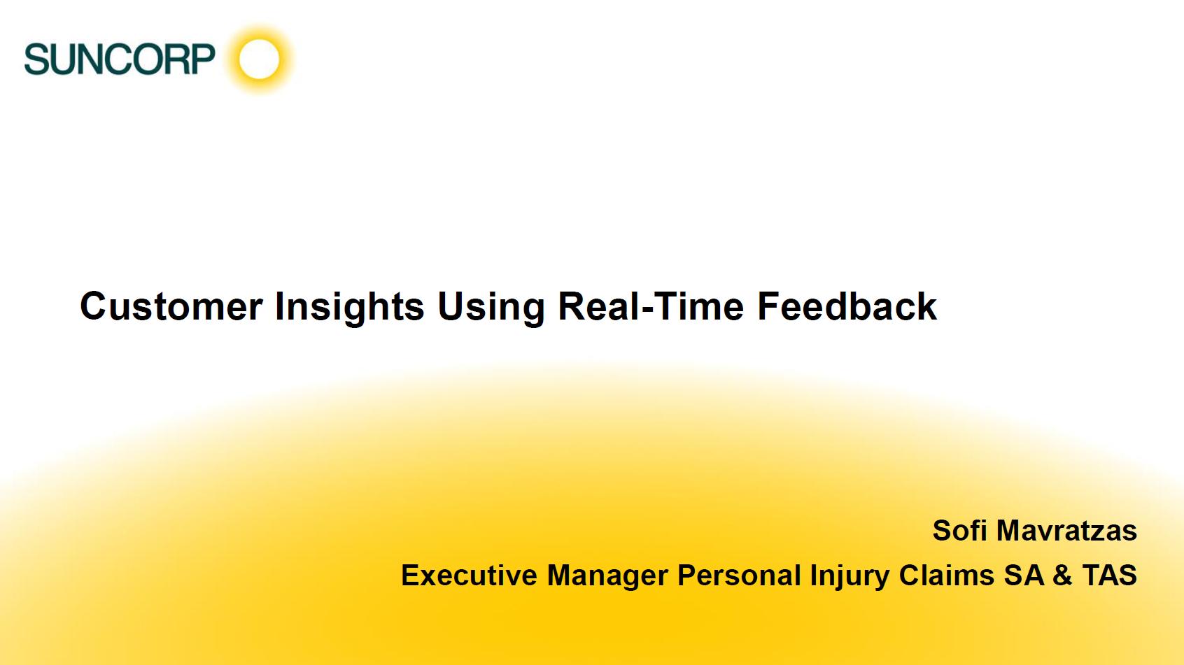 Gaining Customer Insight Using Real-Time Feedback