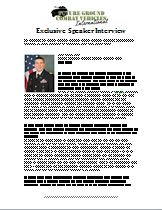 Past Speaker Interview: COL Glenn Dean, Project Manager, Stryker Brigade Combat Team , U.S. Army