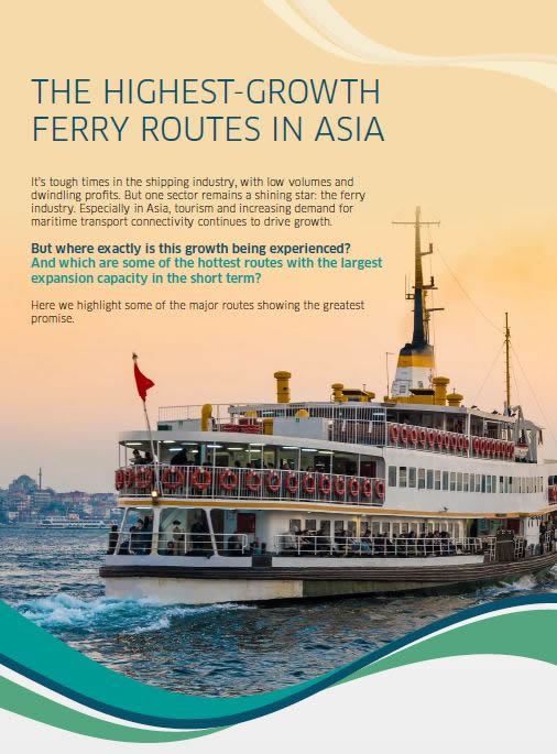The Highest-Growth Ferry Routes in Asia