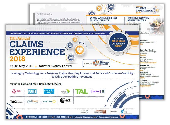 Claims Experience 2018 Final Agenda