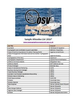 Sample Attendee List 2016