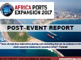 Post-Event Report: Africa Ports Expansion in Kenya