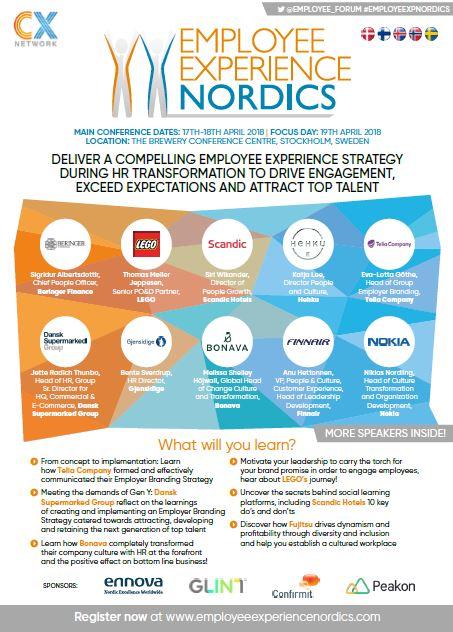 Onsite Agenda - Employee Experience Nordics 2018