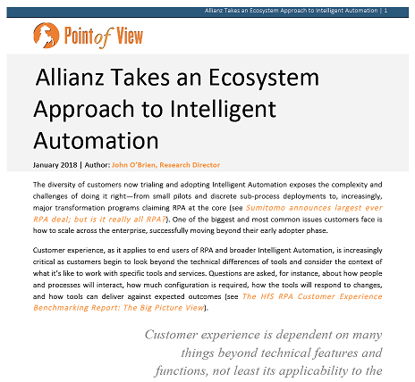 Allianz Takes an Ecosystem Approach to Intelligent Automation