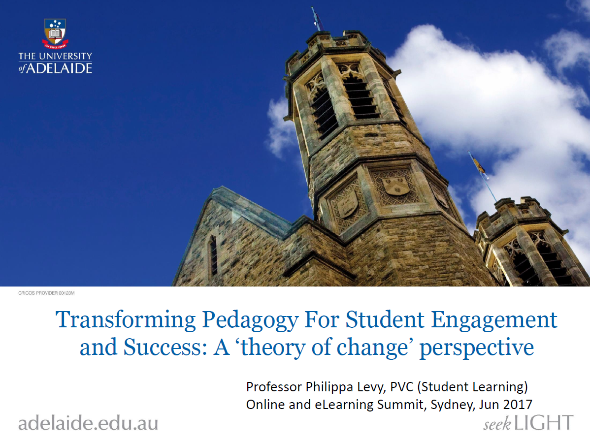 Transforming Pedagogy For Student Engagement and Success: A 'Theory of Change' Perspective
