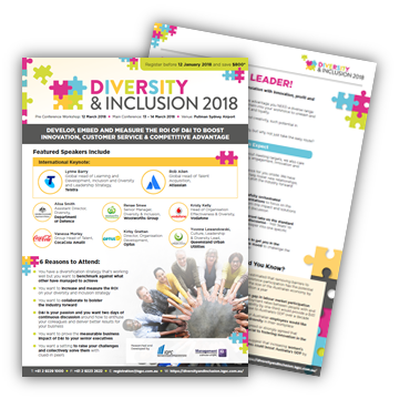 View Final Program - Diversity and Inclusion 2018