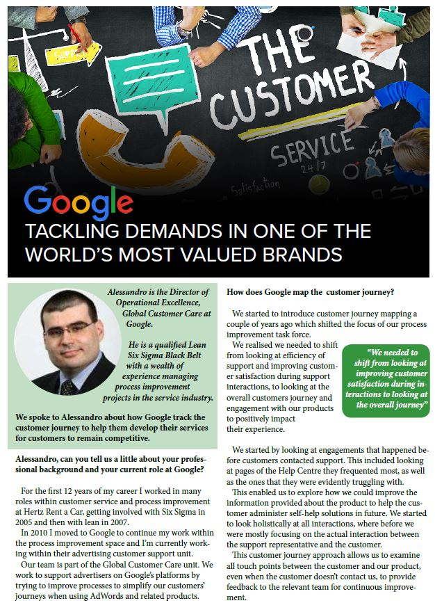 Google: Tackling Demands in one of the World's Most Valued Brands