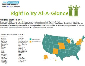 Right to Try At-A-Glance