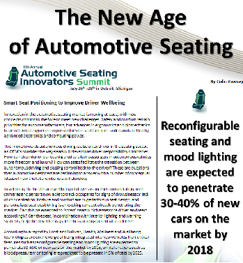 The New Age of Automotive Seating