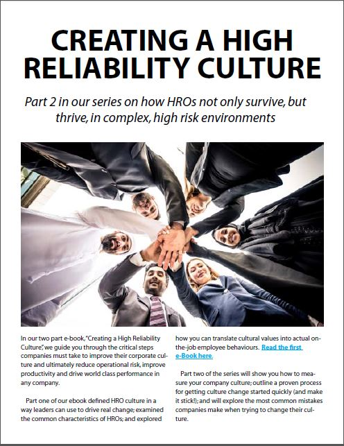 Building a High Reliability Culture - Part 2