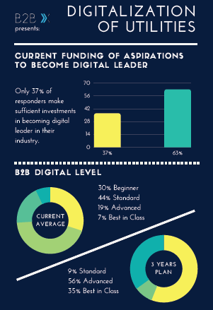 Infographic on the Digitalization of Utilities