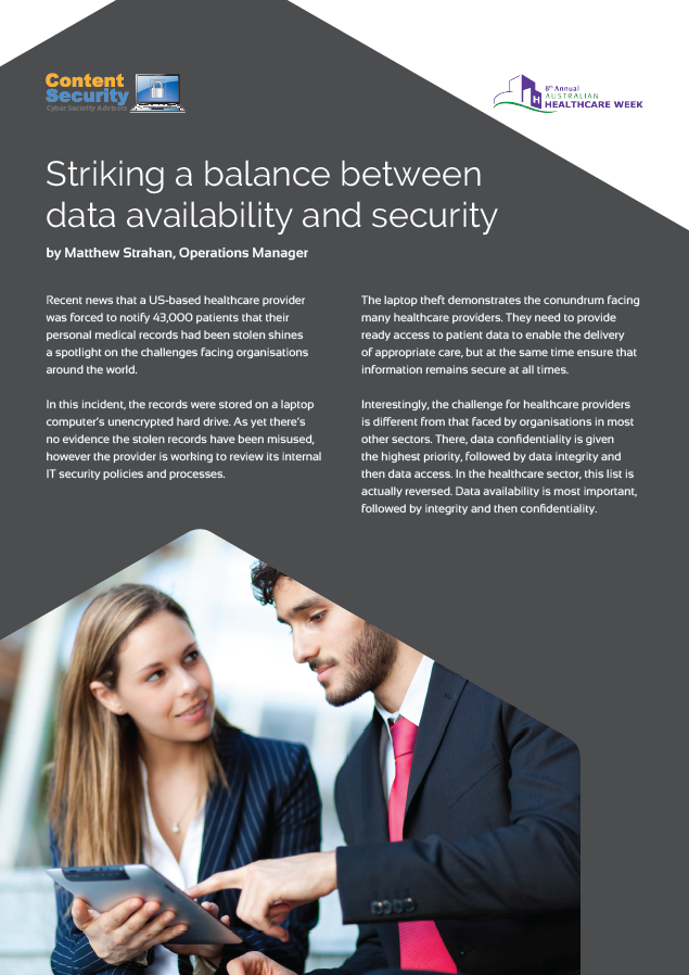 Striking a balance between data availability and security