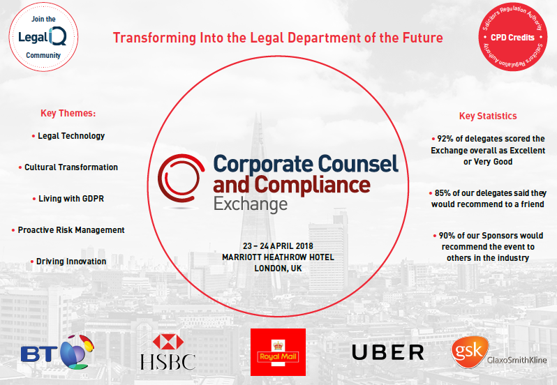Full Agenda for the Corporate Counsel and Compliance Exchange