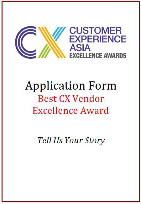 CEM Award Application Form - Best CX Vendor Excellence Award