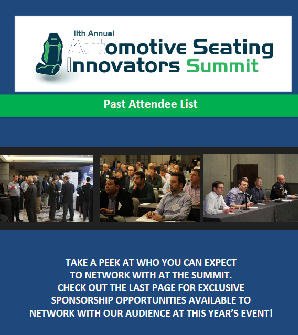 Automotive Seating Past Attendee List