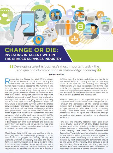 Change or Die: Investing in Talent within the Shared Services Industry