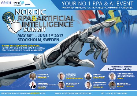 Nordic RPA and Artificial Intelligence Summit Agenda.