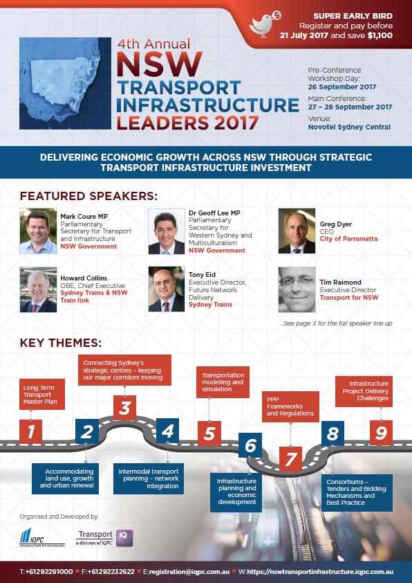 NSW Transport Infrastructure Leaders 2017 - Final Agenda