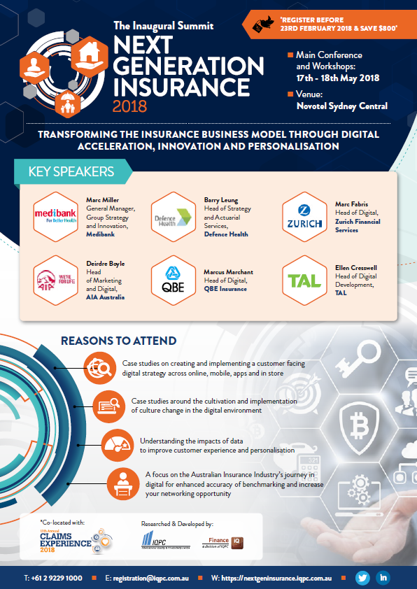 View Final Program: Next Generation Insurance 2018