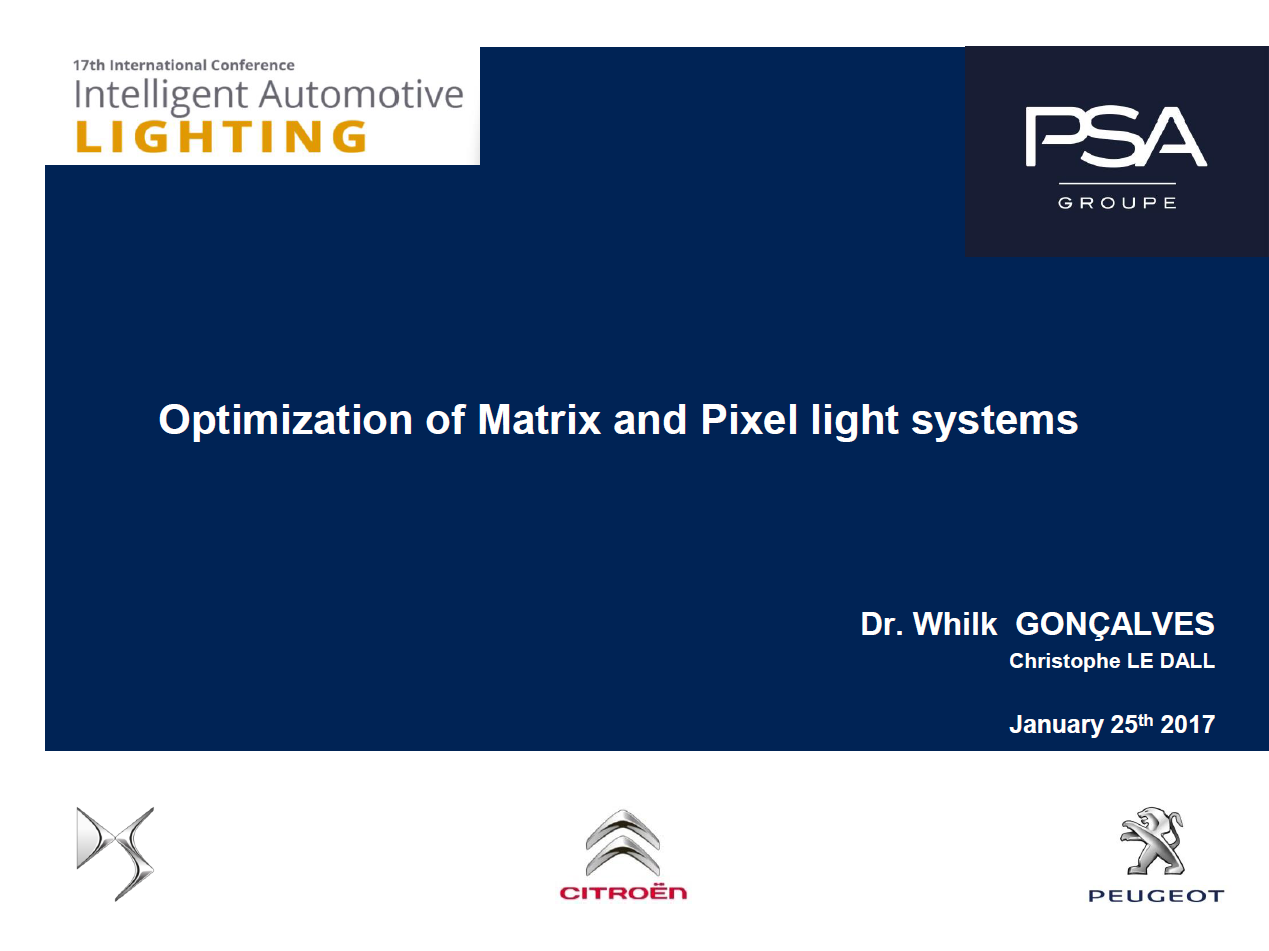 PSA Presentation on Future Trends of Automotive Lighting