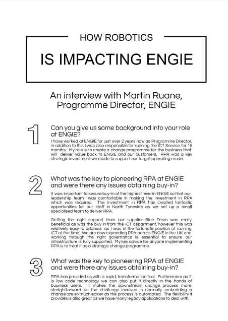 How Robotics is Impacting Engie